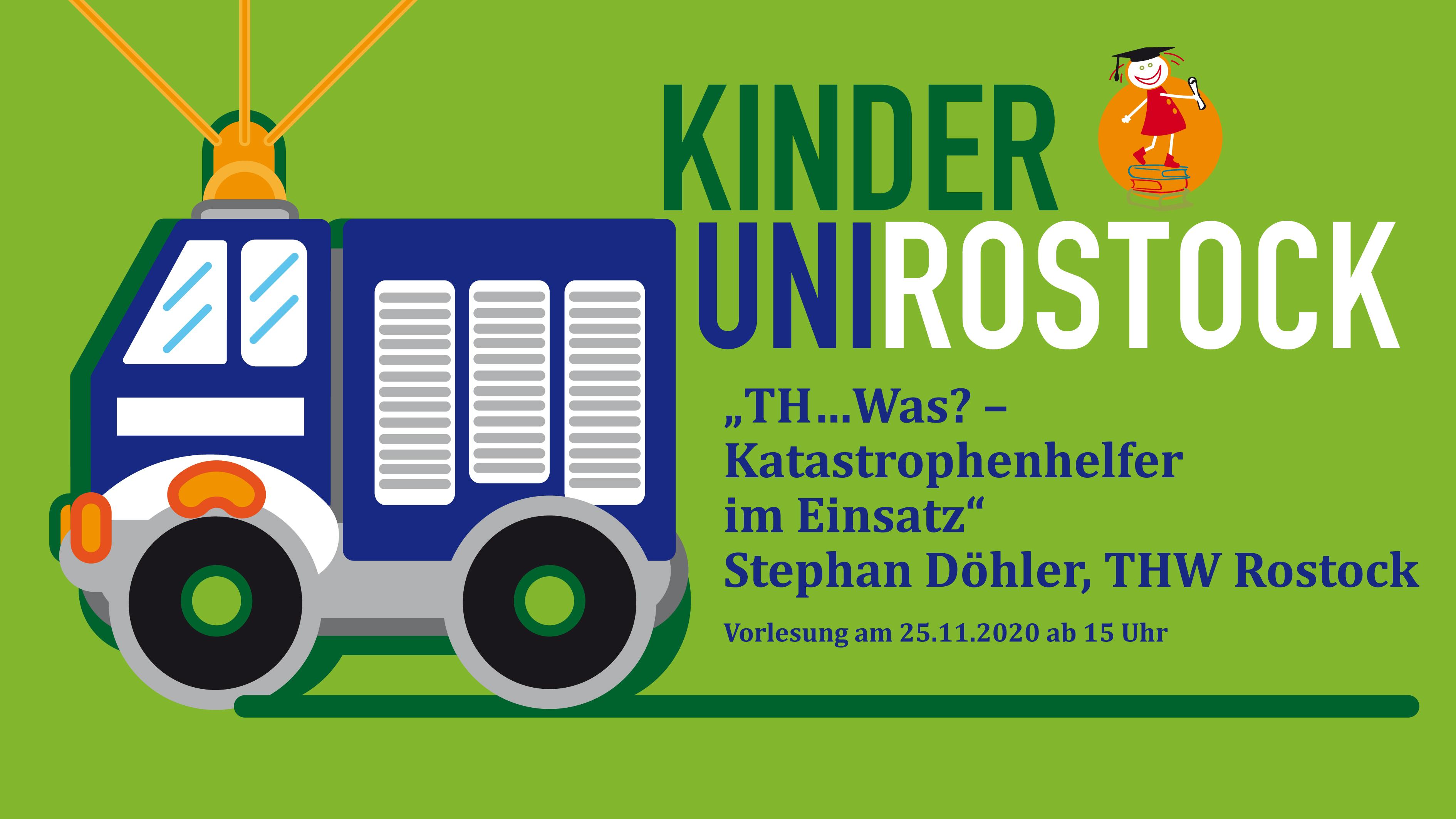Einladung zu einem THW-Vortrag an der Kinder-Uni Rostock