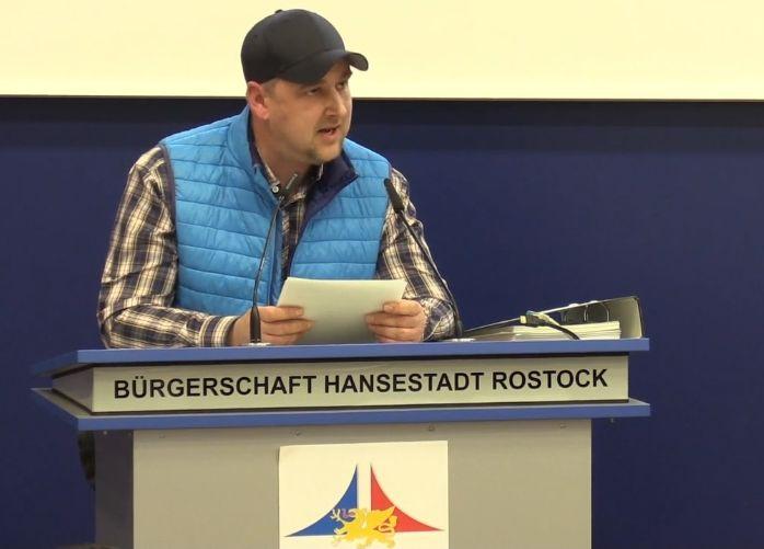 Marco Linstädt - Rede im Rathaus zur Übergabe der Petition an die Bürgerschaft Rostock