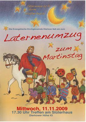 Plakat Einladung zum Martinsfest