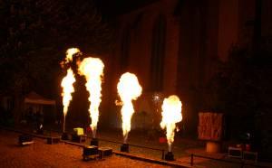 Feuerwerk im Klosterhof zur Langen Nacht der Museen 2018 in Rostock
